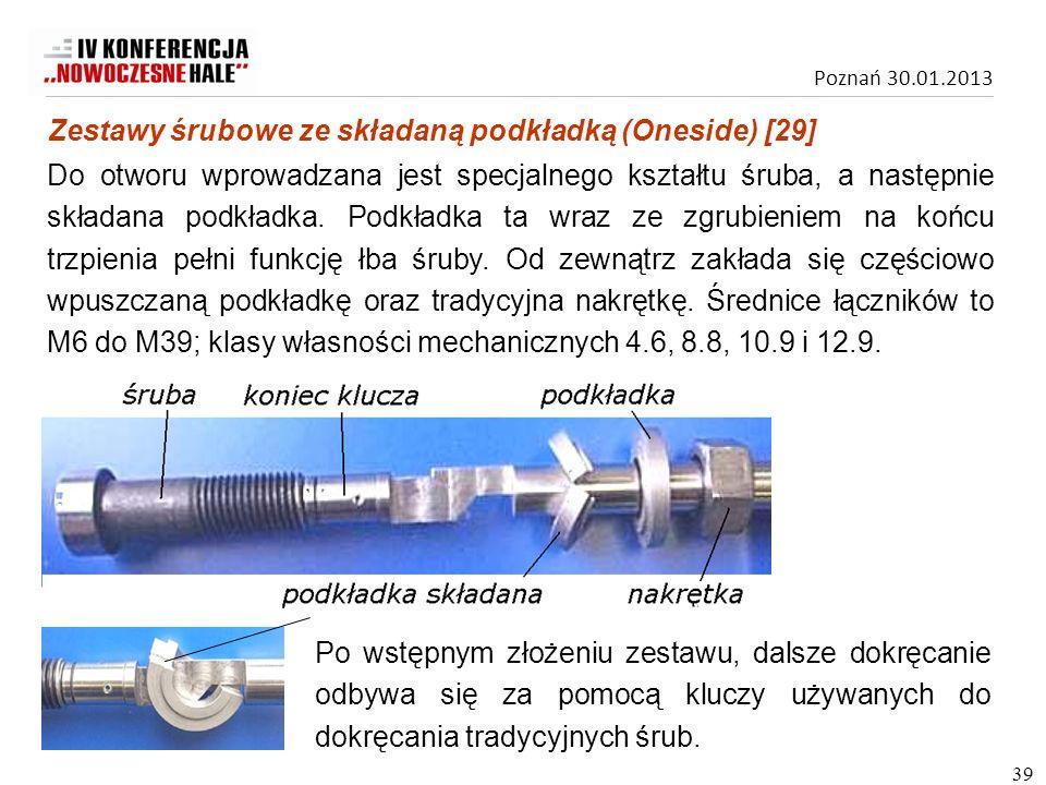 Zestawy śrubowe ze składaną podkładką (Oneside) [29]